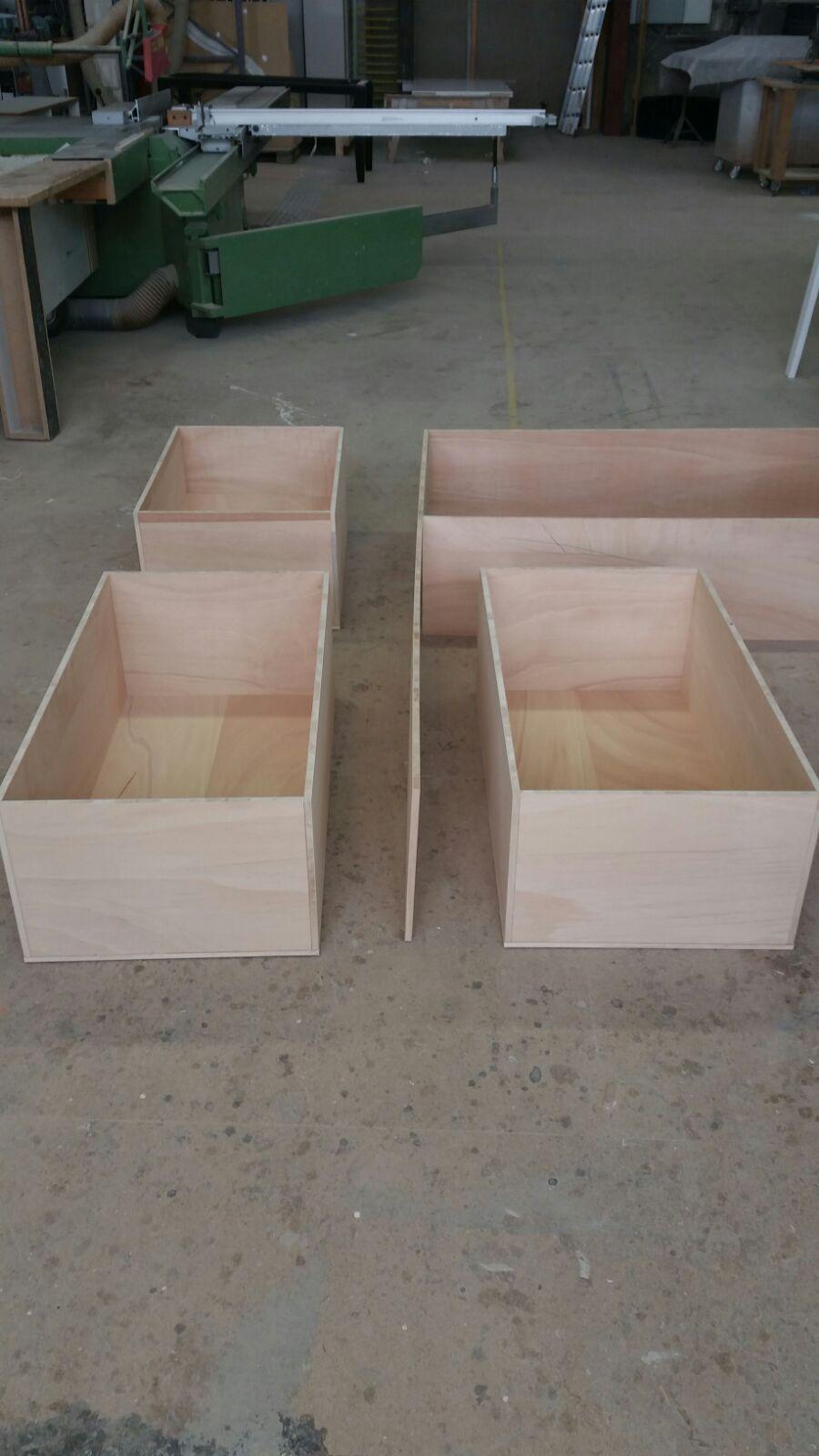 Die vorbereiteten Kisten